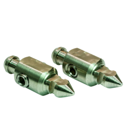 Bayonet connectors, 2x male type
