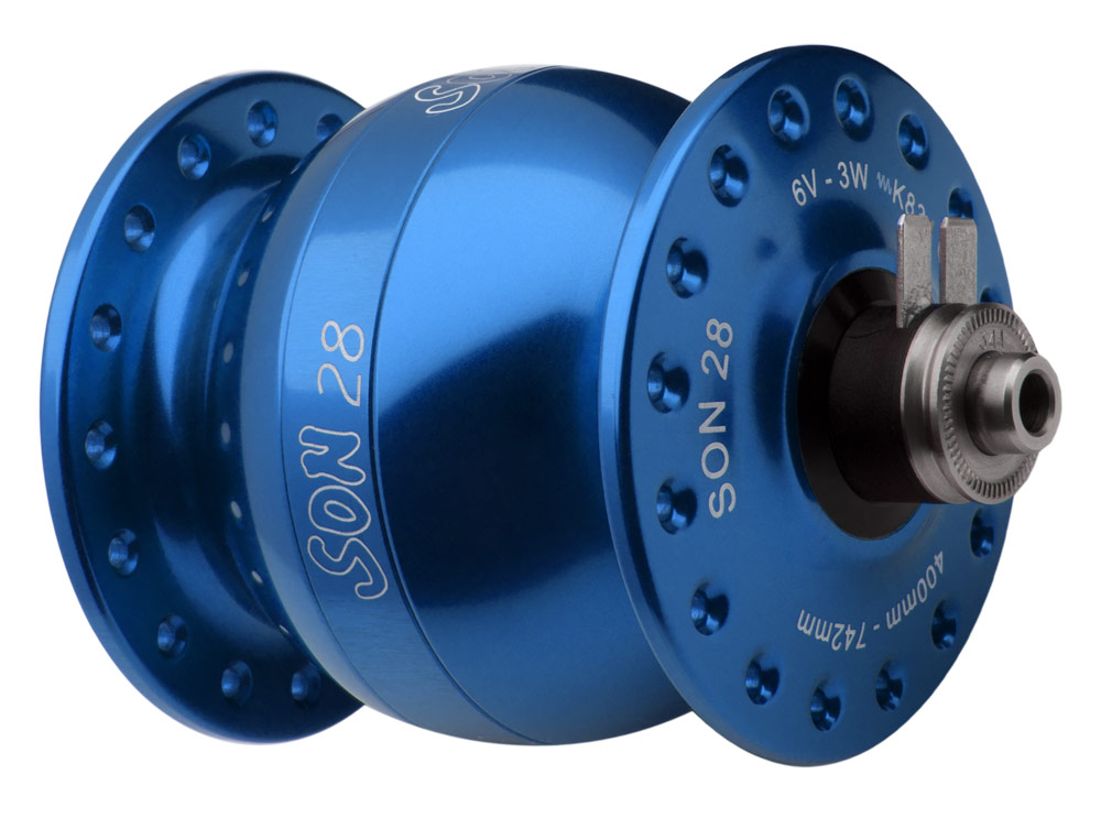 SON 28 blue anodized, 36 hole