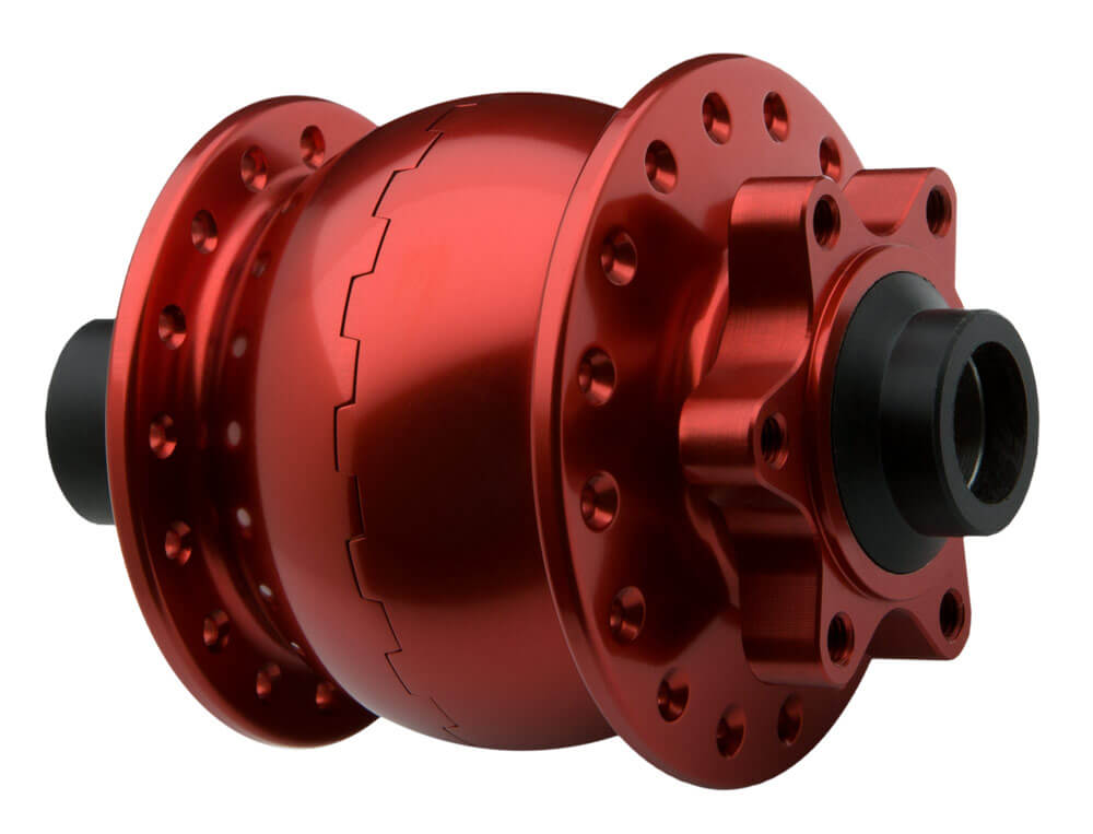 SON 28 15 disc 6-bolt, red anodized, 36 hole