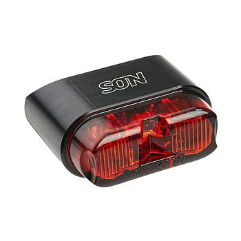 Rear light for mudguard black/red wide profile